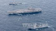 Ba tàu sân bay Mỹ tập trận sát bán đảo Triều Tiên