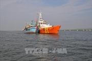 Cứu thành công hai ngư dân rơi xuống biển trong mưa bão