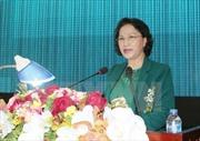 Chủ tịch Quốc hội Nguyễn Thị Kim Ngân dự Ngày hội Đại đoàn kết tại xã Kim Liên-Nghệ An