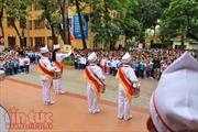 Xúc động buổi chào cờ sáng ngày 20/11 tại Trường Tiểu học Kim Liên