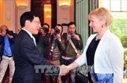 Phó Thủ tướng Phạm Bình Minh hội đàm với Bộ trưởng Ngoại giao Thụy Điển