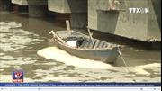 Sông Thị Vải nổi bọt váng bất thường