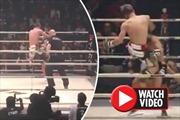 Võ sĩ MMA tung cú song phi đầu gối tuyệt đỉnh hạ đối thủ