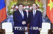 Chủ tịch nước Trần Đại Quang tiếp Chủ tịch Quốc hội Mông Cổ
