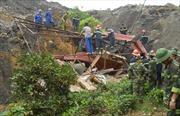 Tiếp tục tìm kiếm nạn nhân mất tích vụ sạt lở ở Thái Nguyên