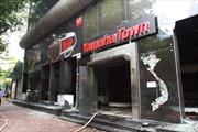 Cháy lớn tại đại lý xe máy Yamaha ở Hà Nội