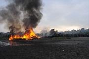Hình ảnh tai nạn máy bay chở khách ở Nepal