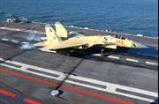 Chiến đấu cơ hạ cánh trên tàu sân bay Trung Quốc