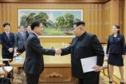 Nhà lãnh đạo Triều Tiên Kim Jong-un nhận thư của Tổng thống Hàn Quốc
