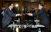 Tổng thống Hàn Quốc  và nhà lãnh đạo Triều Tiên sẽ gặp nhau tại  làng đình chiến Panmunjom