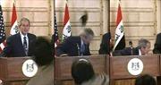 Nhà báo ném giày vào Tổng thống Mỹ Bush tranh cử Quốc hội Iraq