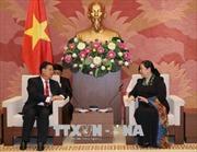 Phó Chủ tịch Thường trực Quốc hội Tòng Thị Phóng tiếp Phó Chủ tịch Quốc hội Lào