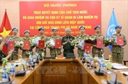 Trao Quyết định của Chủ tịch nước cho 7 sĩ quan làm nhiệm vụ gìn giữ hòa bình Liên hợp quốc