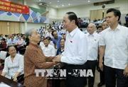 Chủ tịch nước và Chủ tịch Quốc hội tiếp xúc cử tri
