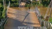 Người dân ở Túc Đán, Yên Bái bị cô lập do cầu treo độc đạo bị sập