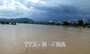 Lào Cai: Nước lũ dâng cao cuốn trôi mặt cầu Khe Cóc