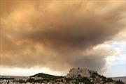 Cháy rừng gần thủ đô Ahthens (Hy Lạp)