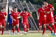 ASIAD 2018: Olympic Việt Nam tập luyện nghiêm túc trước trận đấu với Bahrain