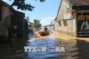 Nước lũ lên nhanh gây ngập nặng tại huyện Thanh Chương, Nghệ An