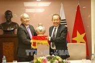 Phó Thủ tướng thường trực Trương Hòa Bình hội kiến Chủ tịch Quốc hội Hàn Quốc