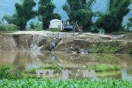 Vẫn 'nóng' tình trạng khai thác cát trái phép tại Điện Biên
