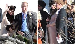 Kate vác bụng bầu dự đám cưới vùng Alpes