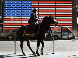 6.000 cảnh sát Mỹ bảo vệ Quảng trường Thời đại dịp Năm mới