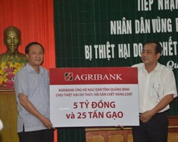 Agribank chung tay vì ngư dân 4 tỉnh miền Trung