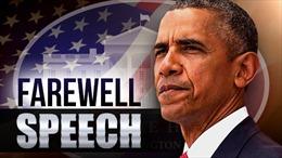 Nội dung nổi bật trong bài diễn văn từ biệt sau 8 năm cầm quyền của ông Obama