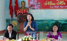 Phó Chủ tịch nước Đặng Thị Ngọc Thịnh thăm, tặng quà Tết gia đình chính sách tại Vĩnh Long