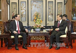 Chủ tịch nước tiếp Ủy viên Thường vụ BCT Đảng Cộng sản Trung Quốc Lưu Vân Sơn