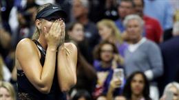 Xem Sharapova bật khóc khi loại hạt giống số 2 Halep ngay ở vòng 1 US Open 2017