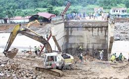 Sơn La gấp rút thi công lại tuyến tỉnh lộ 109 bị lũ quét
