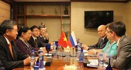 Phó Chủ tịch Quốc hội Tòng Thị Phóng tiếp xúc song phương với Phó Chủ tịch Hạ viện Nga