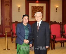 Tổng Bí thư tiếp Đoàn Đại biểu Ban Đối ngoại TƯ Đảng Nhân dân Cách mạng Lào