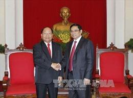 Trưởng ban Tổ chức Trung ương tiếp Bộ trưởng Bộ Nội vụ Lào