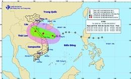 Áp thấp nhiệt đới giật cấp 9, cách bờ biển Quảng Bình 350km