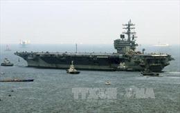 Tàu sân bay Mỹ và tàu chiến Nhật Bản tập trận quanh đảo Okinawa