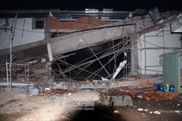 Bà Rịa-Vũng Tàu: Sập ô văng siêu thị đang thi công, ít nhất 3 người thương nặng
