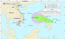 Áp thấp nhiệt đới mạnh lên, di chuyển về phía Biển Đông