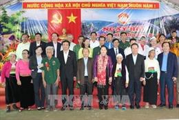 Chủ tịch Quốc hội dự Ngày hội Đại đoàn kết toàn dân tộc tại tỉnh Hòa Bình