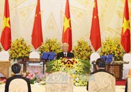 Lời chúc rượu của Tổng Bí thư Nguyễn Phú Trọng tại tiệc chiêu đãi chào mừng Tổng Bí thư, Chủ tịch Trung Quốc Tập Cận Bình