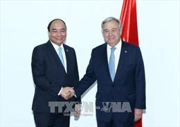 Thủ tướng Nguyễn Xuân Phúc gặp Tổng Thư ký Liên hợp quốc và Chủ tịch Hội đồng châu Âu