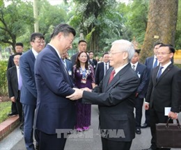 Báo chí Trung Quốc đưa tin đậm nét về chuyến thăm Việt Nam của Tổng Bí thư, Chủ tịch nước Tập Cận Bình