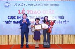 Trao giải tác phẩm báo chí xuất sắc về quá trình hội nhập của Việt Nam