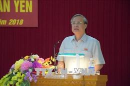 Đồng chí Trần Quốc Vượng tiếp xúc cử tri huyện Văn Yên (Yên Bái)
