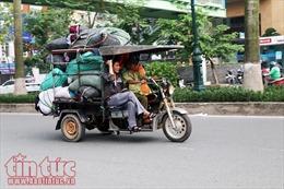 Xe 3 -4 bánh tự chế vẫn tự do tung hoành tại Hà Nội