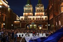 WORLD CUP 2018: Moskva ăn mừng đội tuyển lần đầu tiên vào vòng tứ kết
