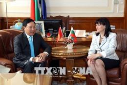 Phó Thủ tướng Phạm Bình Minh hội kiến với các nhà lãnh đạo Bulgaria
