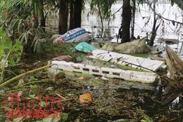 Lo ngại ô nhiễm môi trường vùng ngập lụt Chương Mỹ